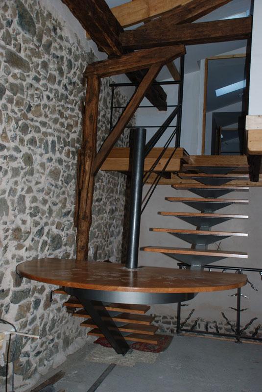 escalier helicoidal ou quart tournant