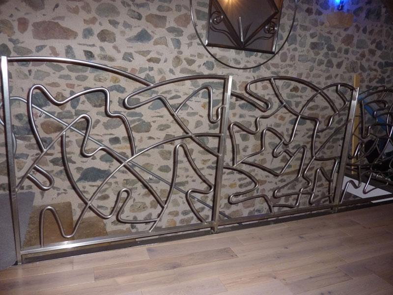 Garde corps fer forg ecully barri re de s curit lyon - Peinture couleur rouille pour fer forge ...