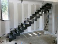 Escalier droit acier Charbonnières-les-Bains
